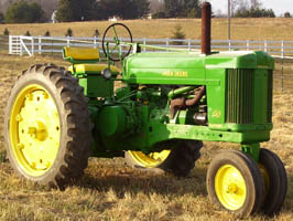 tractor with tricycle front end