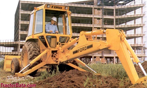 Ford 555 backhoe photo