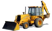 John Deere 410B backhoe photo