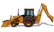 John Deere 410C backhoe photo