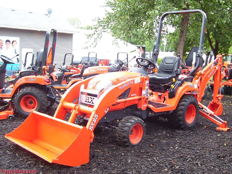 TractorData.com Kubota BX25 backhoe-loader tractor photos information