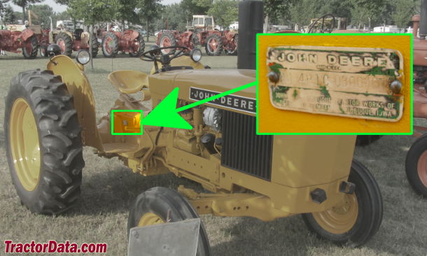 John Deere 300 serial number location