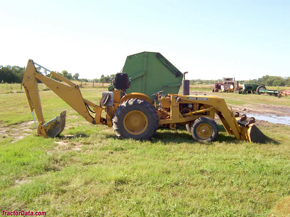 John Deere 300 with loader and backhoe.
