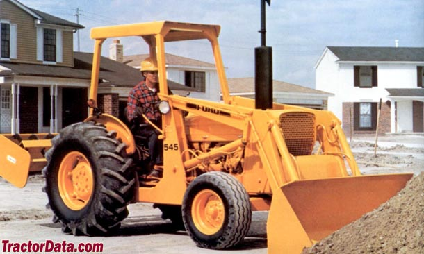Ford 545 with front-end loader and gannon