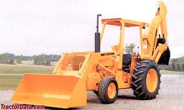 Ford 545 tractor with loader and backhoe