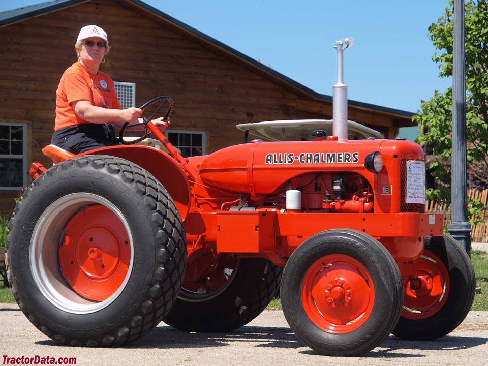Allis-Chalmers IB in orange paint.