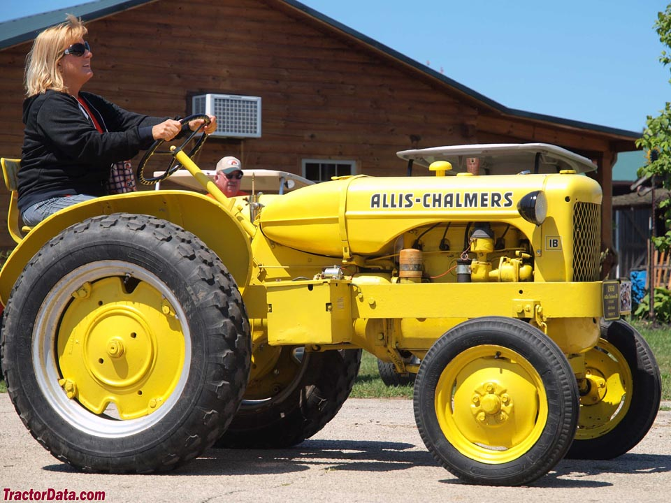 Allis-Chalmers IB in highway yellow.