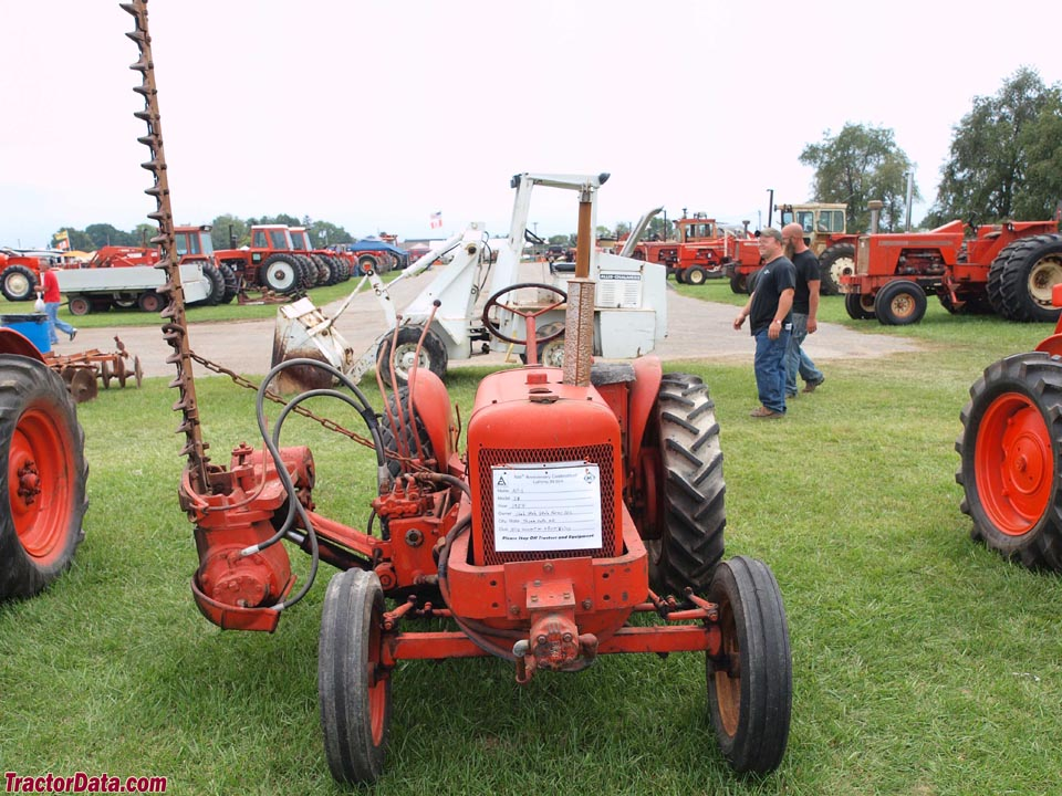 Allis-Chalmers IB with sickle-bar mower.