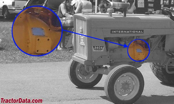 International Harvester 2404 serial number location