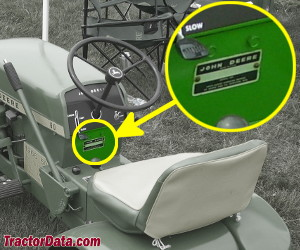 John Deere 60 serial number location