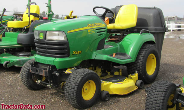 John Deere X485 left-front view