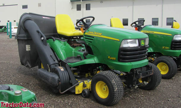 Right-front view of the Deere X485