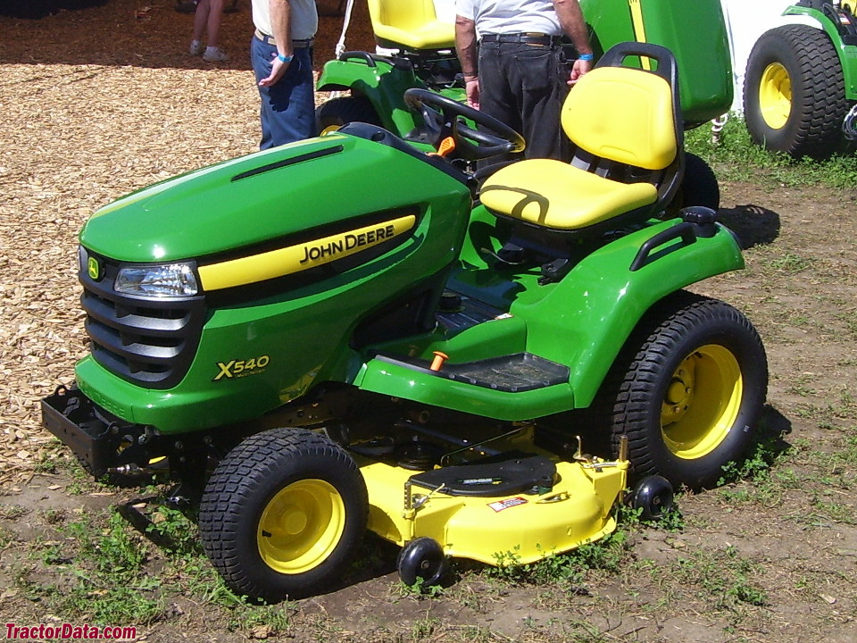 left-side view of John Deere X540