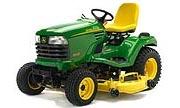 John Deere X585 lawn tractor photo
