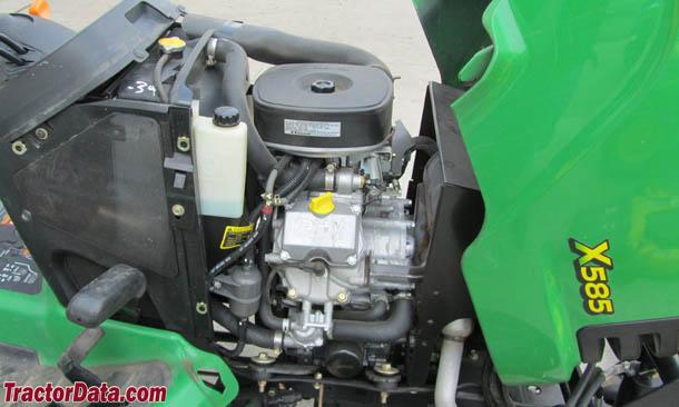 John Deere X585  engine photo