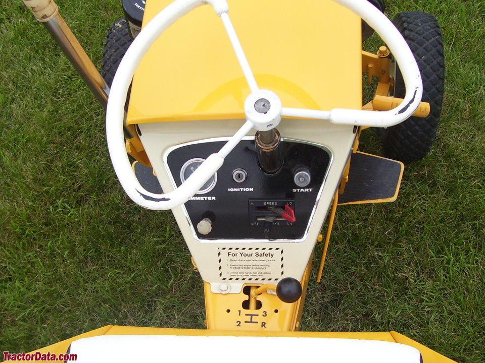 Allis-Chalmers B-10 operator station and controls.