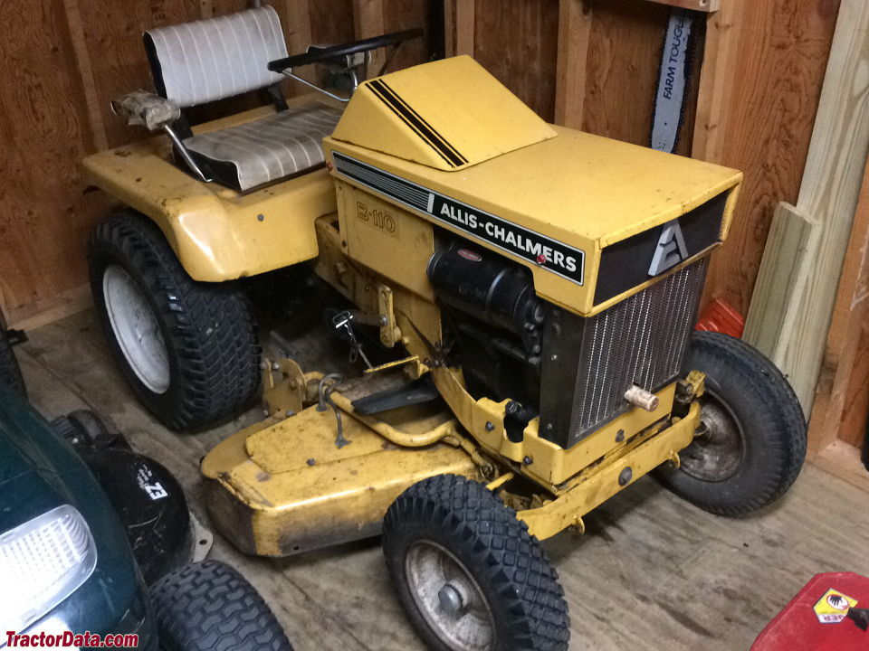 Allis-Chalmers B-110 with mower deck, right side.