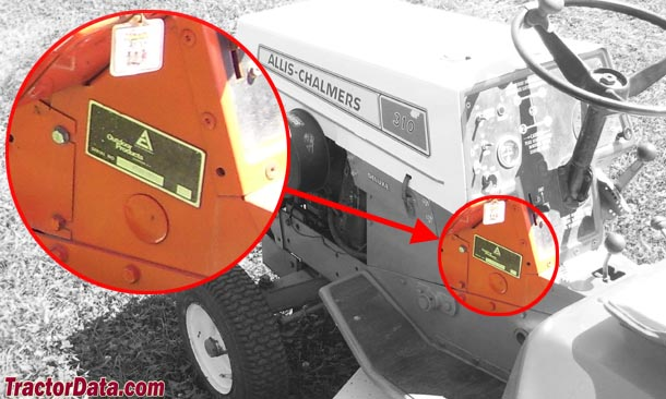 Allis Chalmers 310 serial number location