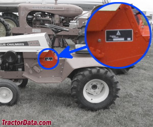 Allis Chalmers 410 serial number location