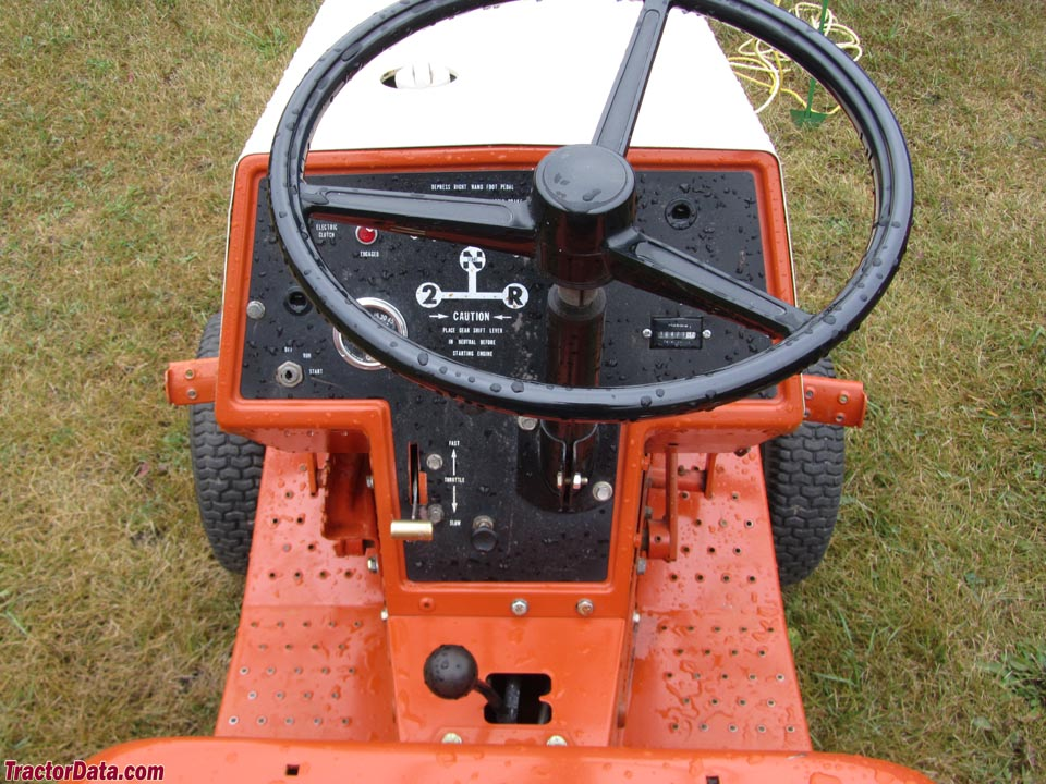 Allis-Chalmers 410 gear operator station and controls.