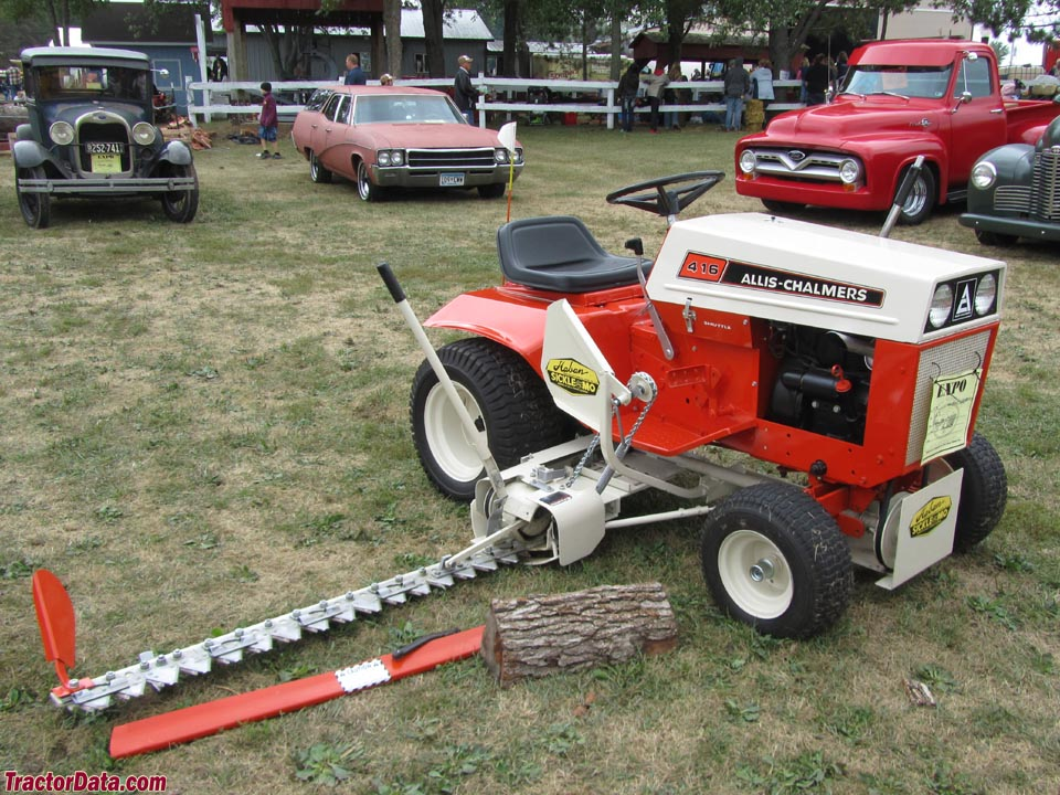 Allis-Chalmers 416 with Haban sickle mower.