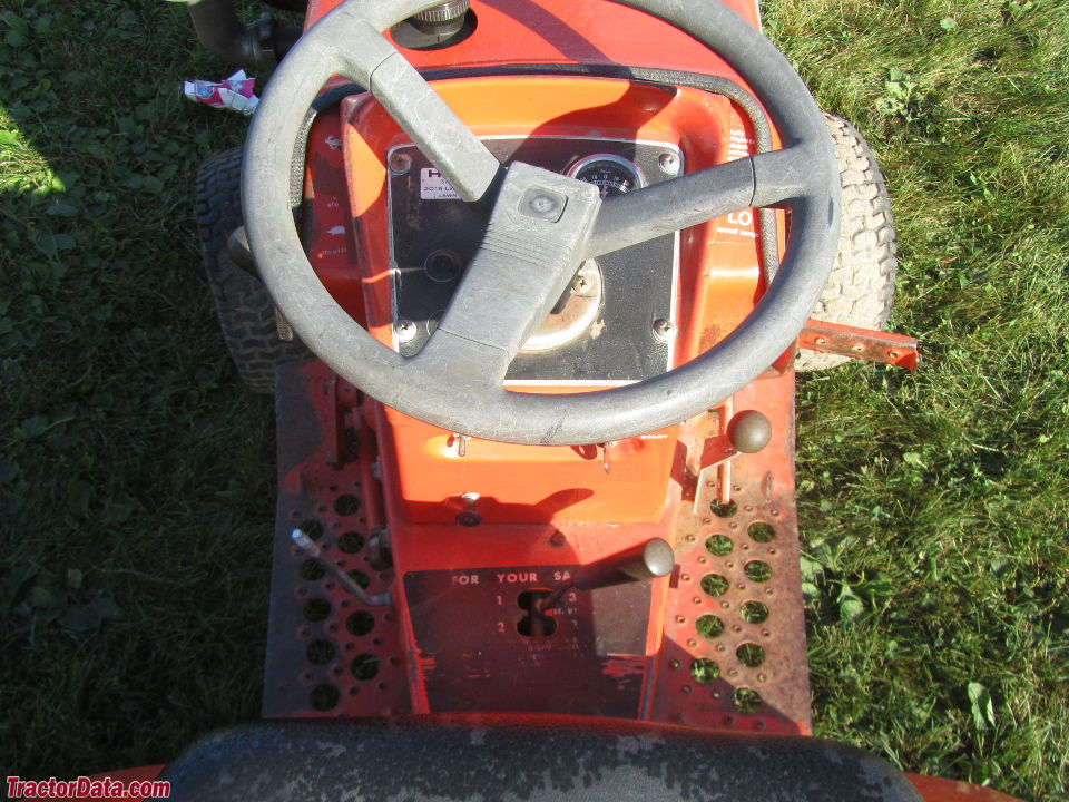 Allis Chalmers 710 operator station and controls.