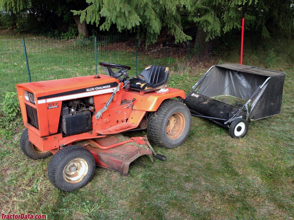 Allis-Chalmer 917 with lawn sweeper.