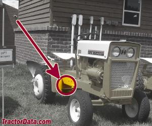 Cub Cadet 70 serial number location