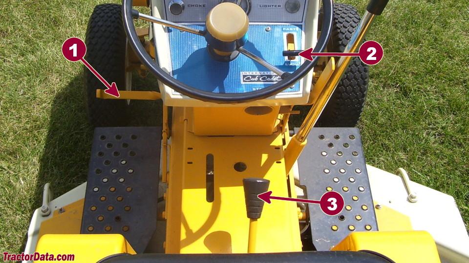 Cub Cadet 104 transmission controls