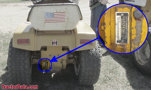 Cub Cadet 126 serial number location