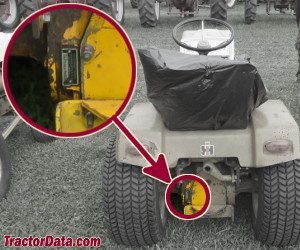 Cub Cadet 147 serial number location