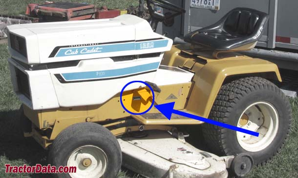 Cub Cadet 1250 serial number location