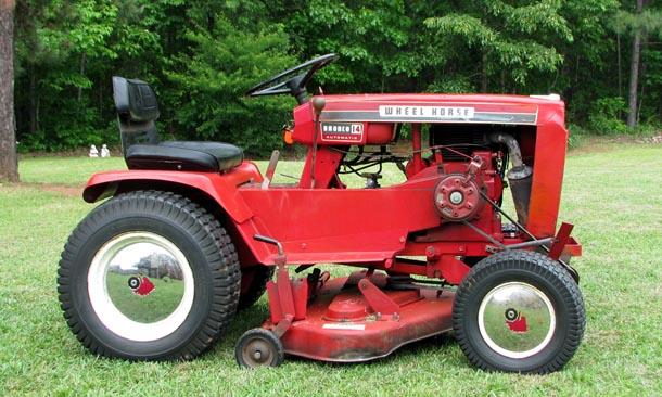Wheel Horse Tractors : Saving hubcaps restorations modifications