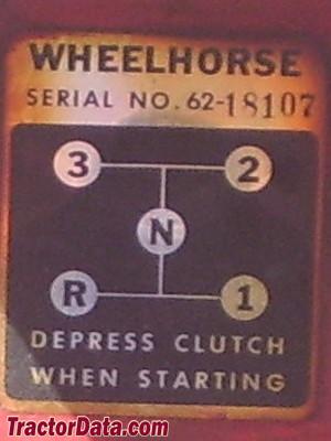 Wheel Horse 502 transmission controls