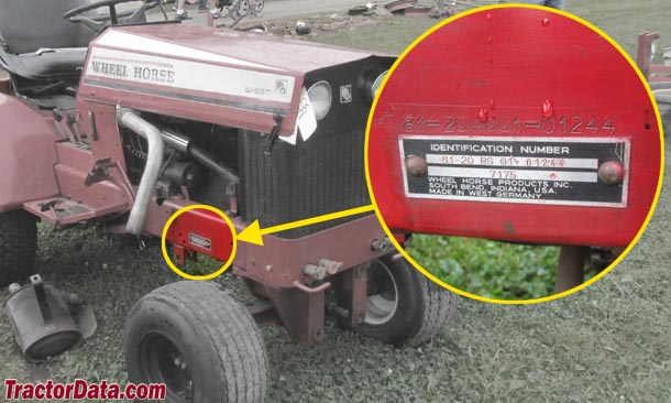 Wheel Horse Garden Tractor With Pto And 3 Point : Tractordata wheel horse d tractor information