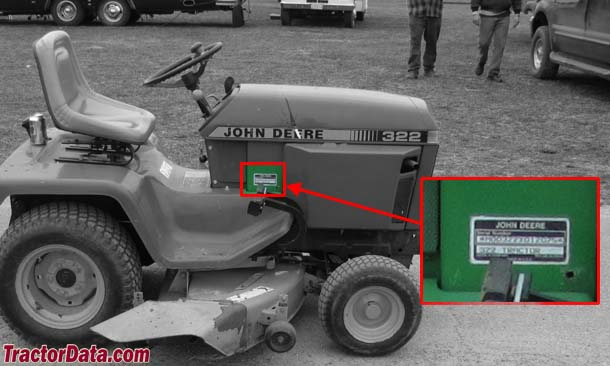 Tractordata john deere 322 tractor information photo of 322 serial number sciox Images