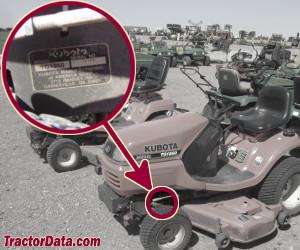 Kubota TG1860 serial number location
