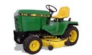 John Deere 332 lawn tractor photo