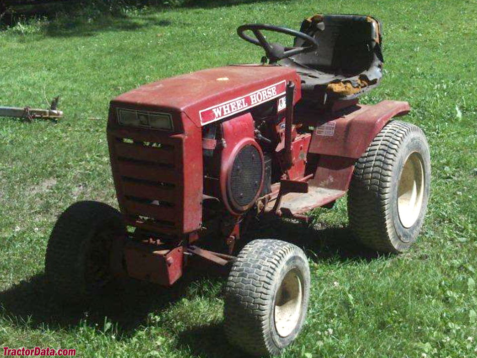 1977 Wheel Horse C-120, front view.
