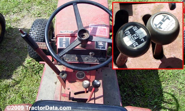 Wheel Horse C-160 belt-driven gear transmission photo