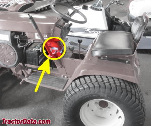 Wheel Horse 14HP serial number location