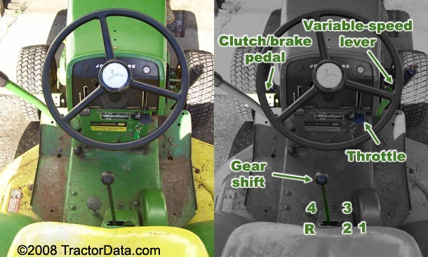 John Deere 110 2300 transmission photo