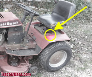 Wheel Horse 257-H serial number location