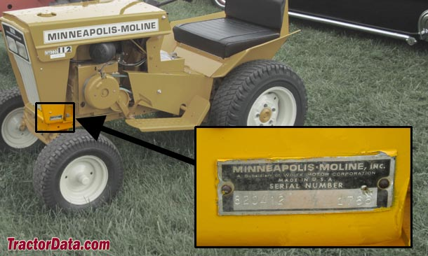 Minneapolis-Moline Town & Country 112 serial number location