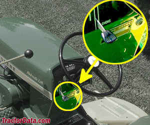 John Deere 112 serial number location