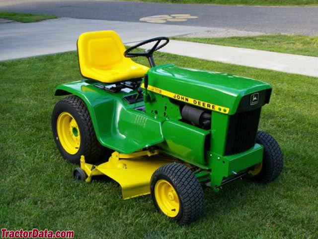 1972 (square-fender) John Deere model 112 with electric lift.