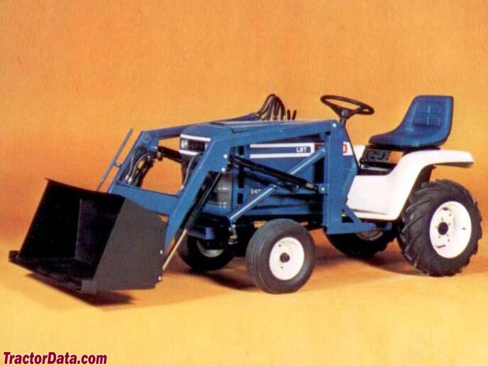 Ford LGT-145 with front-end loader.