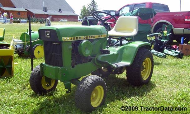 120_TractorData.com John Deere 120 tractor photos information