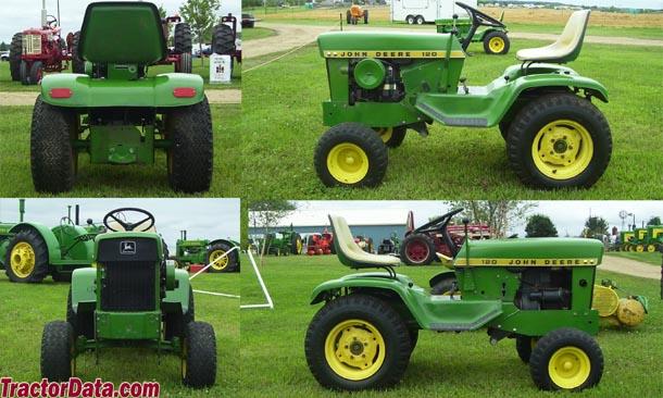 120_TractorData.com John Deere 120 tractor dimensions information