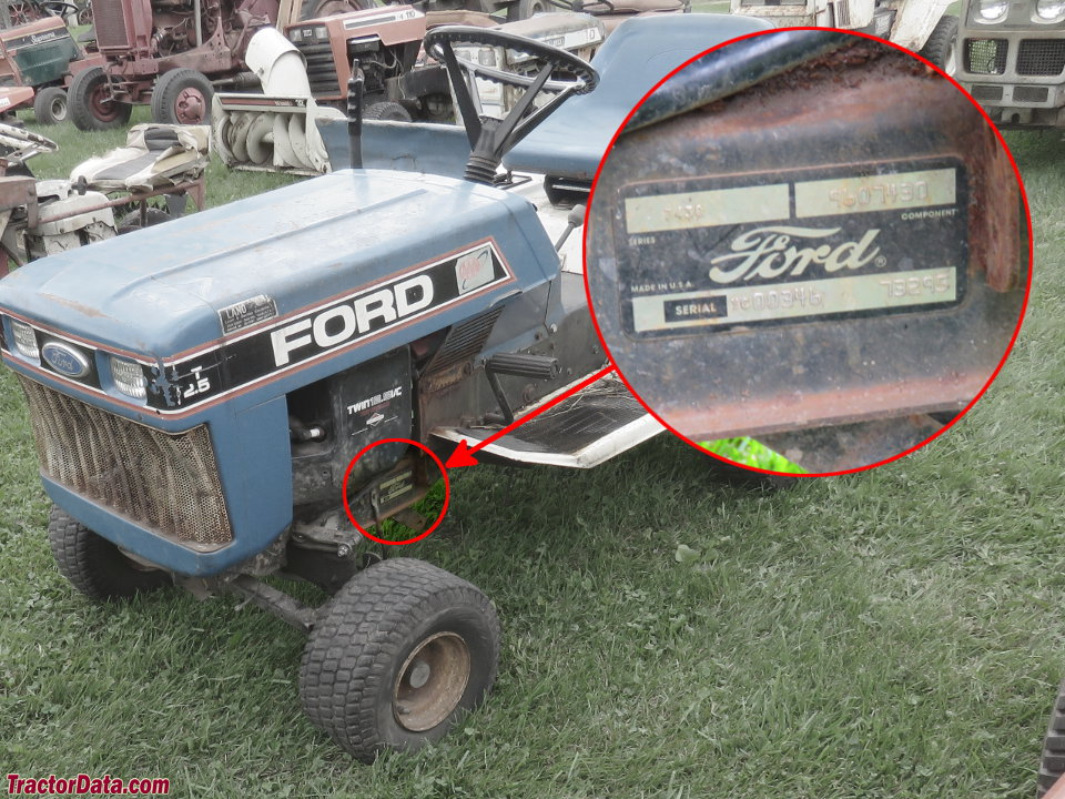 TractorDatacom Ford YT125 tractor information